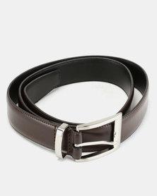 Wembley Colin Coated & Bonded Leather Belt Brown