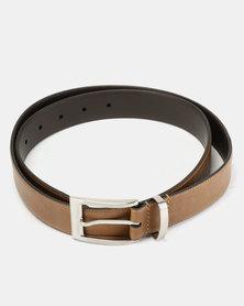 Wembley Colin Coated & Bonded Leather Belt Tan