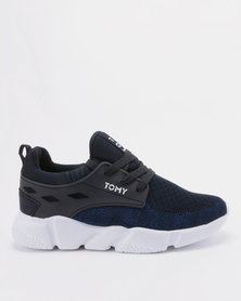 Tomy Takkies Men's Knit Sneakers Navy