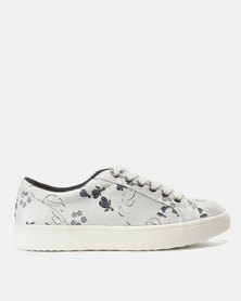 North Star Floral Sneakers White