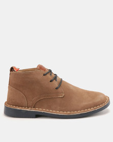 Bata Casual Lace Up Boots Sand