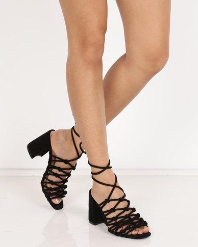 Public Desire Bianca Block Heels Black