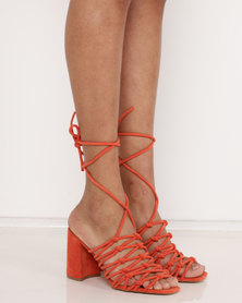 Public Desire Bianca Block Heels Orange