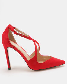 Public Desire Chapelle Cross Strap Court Red