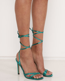 Public Desire Contour Heel Sandals Green