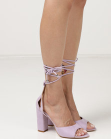 Public Desire Frenchie Block Heels Lilac