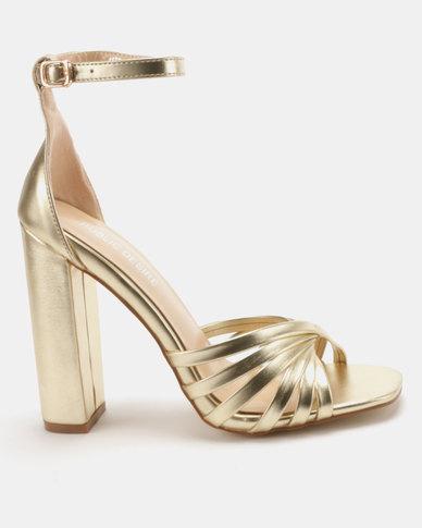 Public Desire Milan Heel Sandals Gold