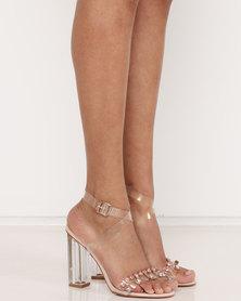 Public Desire Rian Jewel Perspex Heels Pink