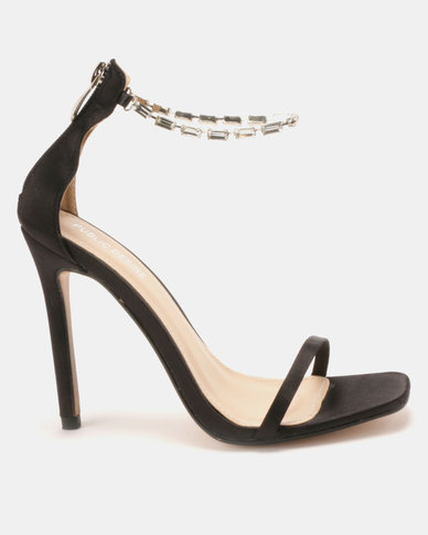 Public Desire Rizzo Gem Barely There Heels Black