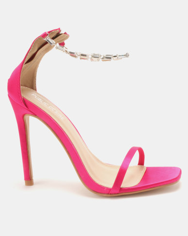 Public Desire Rizzo Gem Barely There Heels Pink