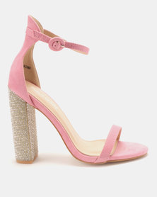 Public Desire Sofia Barely There Heels Light Pink