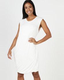 Michelle Ludek Ivy Dress Bubble Hem Ivory