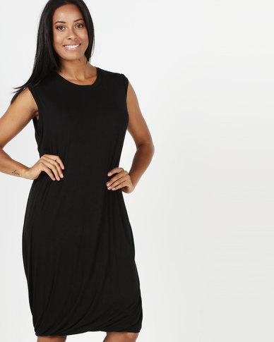 Michelle Ludek Ivy Dress Bubble Hem Black