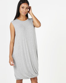 Michelle Ludek Ivy Dress Bubble Hem Grey
