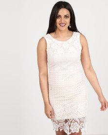 Revenge Lace Detail Dress White