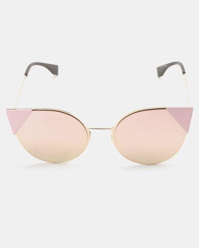 You & I Cute Metal Cateye Sunglasses Gold