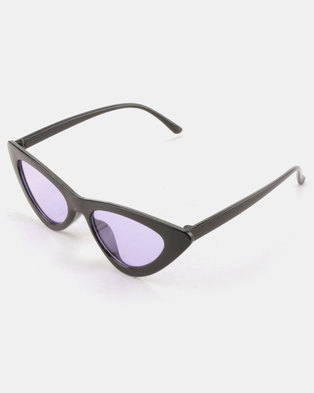 ebafedf3f8c You   I Quirky Cateye Sunglasses Black