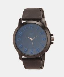 Joy Collectables Round Watch Black