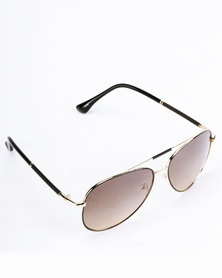 Joy Collectables Polarised Square Frame Sunglasses Brown