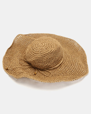 Joy Collectables Floppy Straw Hat Tan 650986a27982