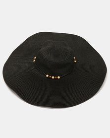 Joy Collectables Straw Sun Hat Black
