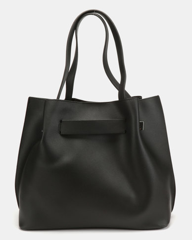 New Look Rouch Unlined Tote Bag Black