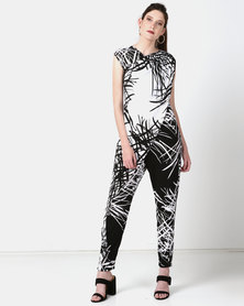 Ruff Tung Sarong Jumpsuit Black & White
