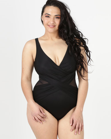 Miraclesuit Illusionists Crossover One Piece Black