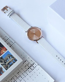 Escape Society Strap Watch Rose Gold/White