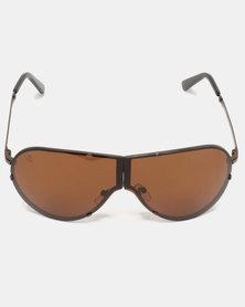 Escape Society Shield Polarised Sunglasses Brown