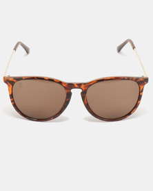 f87067007ae Escape Society Tortoise Shell And Keyhole Club Polarised Sunglasses Brown