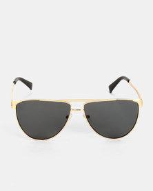 Escape Society Key Club Polarised Sunglasses Black and Gold-tone