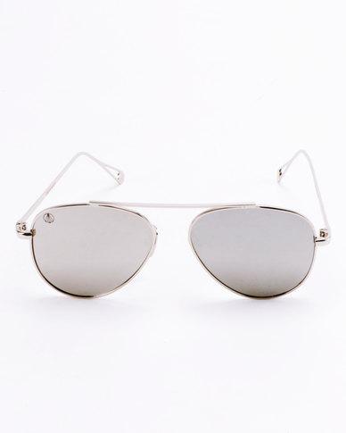 Escape Society Aviator Sunglasses Silver