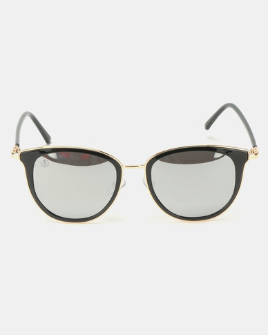 Escape Society Cat Clubmaster Sunglasses Black/Gold