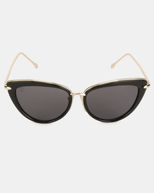 Escape Society UV400 Cat Eye Sunglasses Black/Gold