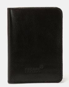 Escape Society Full Grain Leather Passport Holder Black