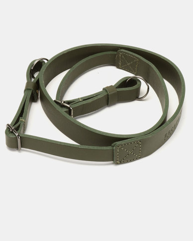 Escape Society Full Grain Leather Camera Sling Olive Green