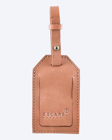 Escape Society Basic Full Grain Leather Luggage Tag  Dusty Pink