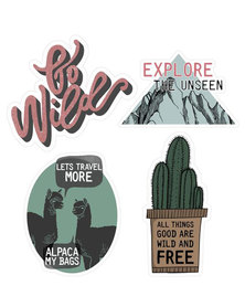Escape Society Adventure Luggage Personalisation Sticker Multi