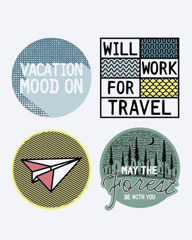 Escape Society Explore Luggage Personalisation Sticker