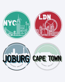 Escape Society Cities Luggage Personalisation Sticker