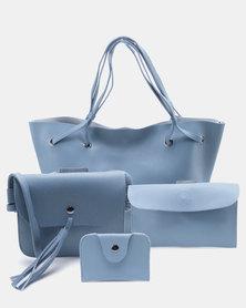 Utopia 4 Piece Handbag Set Blue