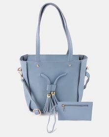 Utopia 2 Piece Handbag Set Blue