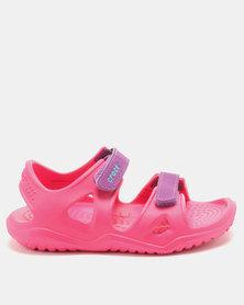 Crocs Swiftwater River Sandals K Paradise Pink/Amethyst