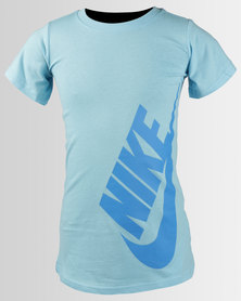 Nike Girls NSW Dress T-Shirt Blue Chill