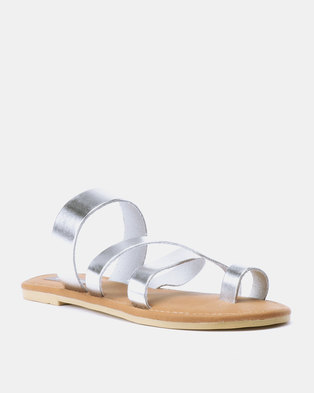 948268afebee5 Utopia Toe Thong Leather Sandals Silver