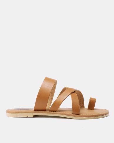 Utopia Toe Thong Leather Sandals Tan