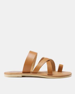 2539bc235 Utopia Toe Thong Leather Sandals Tan
