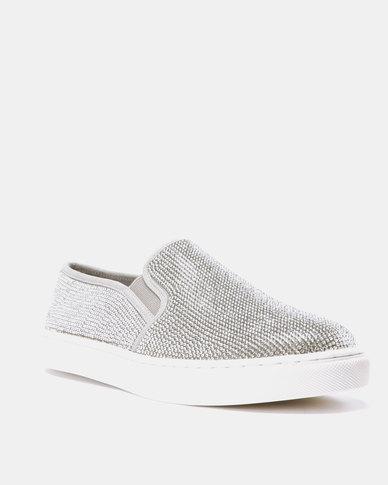 cc450326f19 Steve Madden Encore Sneakers Rhinestones Silver-tone