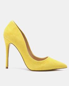 Steve Madden Daisie Heels Yellow Suede